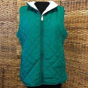IZOD reversible green and white vest size large